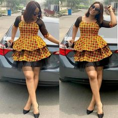 The right picture collection of 2018 latest ankara styles for ladies. Every woman deserves to rock the latest ankara styles of 2018 Short African Dresses, Ankara Short Gown Styles, Trendy Ankara Styles, Short Gowns, Ankara Gowns, African Print Dresses, African Lace, African Men, African Prints