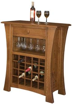 You'll save on every piece of furniture at Amish Outlet Store! We custom make every item, and you can get the Arts & Crafts Wine Cabinet in Oak with any wood and stain.