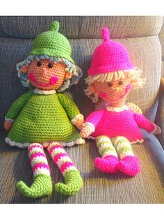 """Dixie the Pixie Doll ~ 21"""" tall ~ easy level ~ your child will love to cuddle with this cutie! ~ CROCHET"""