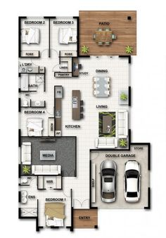 change study/linen to small linen/walk in pantry and move theatre door to make master robe bigger Sims House Plans, New House Plans, House Floor Plans, Home Building Design, Home Design Floor Plans, House Design, Model House Plan, Shipping Container House Plans, Floor Plan Layout