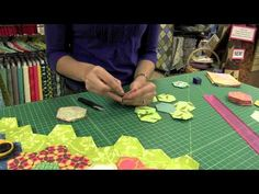 This classic technique used for grandmother's flower garden quilts by using paper hexagons as a foundation. Learn this classic quilting method with modern tools and techniques to make it even easier!