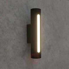 47€ | Dark grey LED outdoor wall light Tomas | Lights.ie