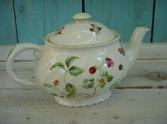 Vintage Teapot - Staffordshire James Kent, Shabby, French Country