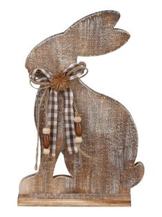 TrendDesign Wooden Easter Bunny Source by gszwedek Diy Spring, Spring Crafts, Holiday Crafts, Diy Crafts Love, Crafts For Teens To Make, Easter Projects, Easter Crafts, Animal Cutouts, Rabbit Crafts