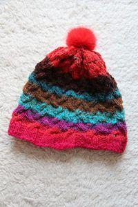 Mütze aus Noro Kureyon 326 von Noromaniac - 100 % Wolle