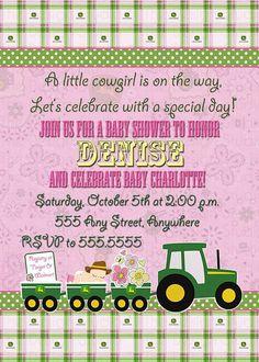 John Deere Baby Shower Invitations By EmbellishedPaper On Etsy, $2.50 |  Cowgirl Birthday | Pinterest | John Deere Baby, Baby Shower Invitations And  Baby ...