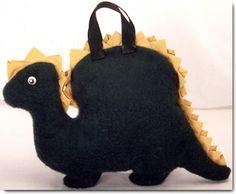 DIY dinosaur pillow/pajama bag