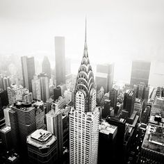 Chrysler building, new york, black and white. Its not very often a building will make my heart skip a beat!