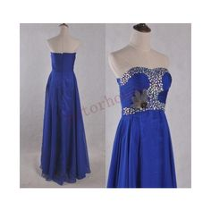 Royal Blue Beaded Long Prom Dresse Evening Dresses Party Dresses Prom... ($93) ❤ liked on Polyvore featuring dresses, black, women's clothing, beaded prom dresses, black chiffon dress, long black dress, prom dresses and beaded dress