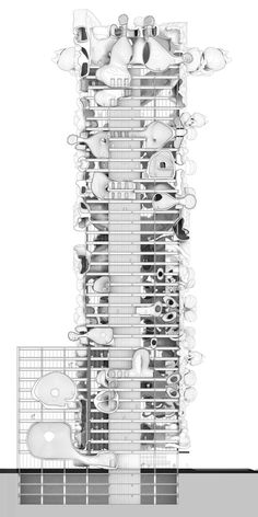 Cute Seams/Seems Cute (a Seagram Building) Recipient of Thesis Honors Prize 2016 Published in Suckerpunchdaily How can cuteness be deployed in architecture? Is there a relationship between the uncanny and the cute? Section Drawing Architecture, Architecture Graphics, Organic Architecture, Architecture Student, Architecture Plan, Architecture Colleges, Business Architecture, Architecture Portfolio, Parasitic Architecture