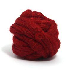 Paradise Fibers Dyed Tussah Silk Top Roving