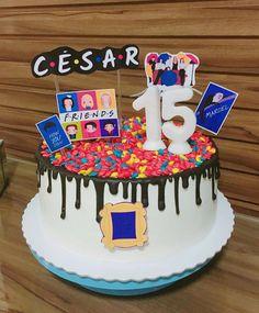 15th Birthday Party Ideas, Friends Birthday Cake, Friends Cake, Birthday Goals, 14th Birthday, Diy Birthday, Birthday Party Decorations, Cake Tv Show, Friends Merchandise