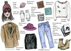 How To Update Your Wardrobe For Fall - this week's illustrated how-to for Hello Giggles.