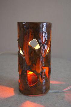 MidCentury Lava Ceramic Lamp 7 3/4 H by stukinmidcentury on Etsy, $30.00