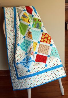Baby Quilt in Bungle Jungle Charm Fabrics by MulberryPatchQuilts
