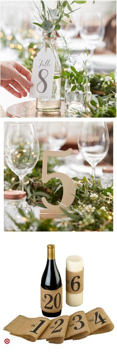 Shop target for table & numbers you will love at great low p Wedding Signs, Wedding Bells, Diy Wedding, Rustic Wedding, Dream Wedding, Wedding Day, Wedding Vows, Wedding Centerpieces, Wedding Table