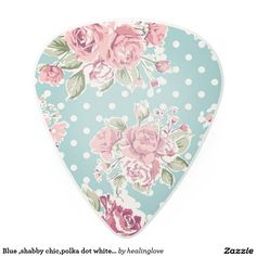 Blue ,shabby chic,polka dot white,floral pink,fun,