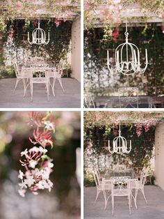a vintage table nested beneath jasmine vines I can't wait to have a little nook like his in my back garden Shabby Chic Garden, Shabby Chic Cottage, Vintage Shabby Chic, Vintage Table, Dream Wedding, Chic Wedding, Here Comes The Bride, Love And Marriage, Wedding Inspiration