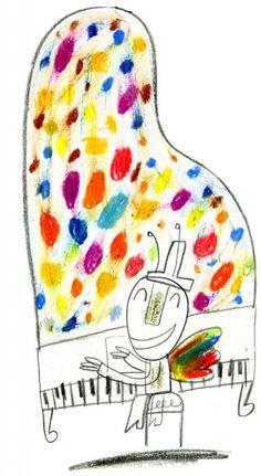 illustrations for the music festival Esperanzah with graphics applications made by the children of John Miranda Studio.