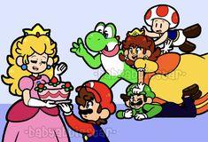 Super Mario Brothers, Bowser, Peanuts Comics, Deviantart, Artist, Fictional Characters, Cake, Super Mario Bros, Artists