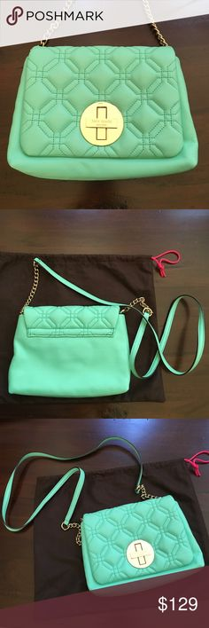 kate spade- Naomi Quilted Leather Crossbody Never been used. Kate spade Naomi quilted leather crossbody. Gorgeous teal color kate spade Bags Crossbody Bags