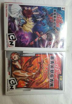 Nice Lot of 2 Bakugan DVDs- Brand New