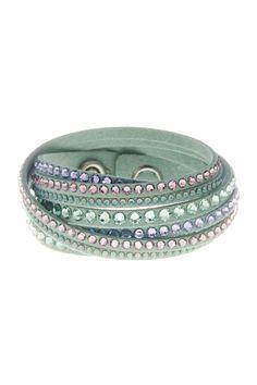 Multi Row Crystal Wrap Bracelet