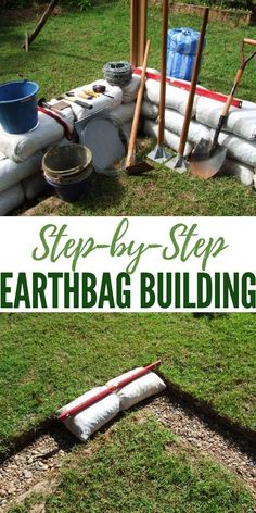 How to Make an Earth Bag Building | DIY Earth Bag Building | DIY Shelter | Prepping | Survival