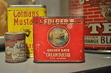 Folger's Golden Gate Cream Tartar, first half of 20th century Potassium bitartrate - Wikipedia, the free encyclopedia