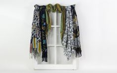decorate with scarves this fall! Color Pop, Scarves, Kimono Top, Texture, Knitting, Fall, How To Make, Beautiful, Tops