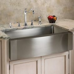 "24"" Scranton Stainless Steel Single Well Wave Apron Farmhouse Sink Handmade Sink with curve corners Stainless"