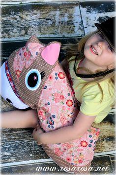 Ebook Rosi - das Pony Kuschelkissen zum lieb haben e inkl. Applikationsvorlagen und Plotterdateien - rosarosa