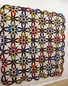 Bali Wedding Ring quilt posted at Cookie's Creek; design by Judy Niemeyer