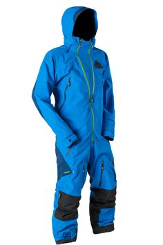 TOBE Outerwear Vivid Mono Suit, Hawaiian Ocean - Snowmobile, ski and snowboard one-piece suit. 100% windproof, 100% waterproof, breathable Sympatex Membrane. #rideyourway