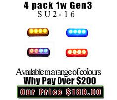 Gen 3 1 watt surface mount packages only available online Lights And Sirens, Emergency Vehicles, Surface