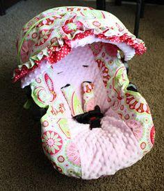 DIY infant carseat slip cover tutorial.