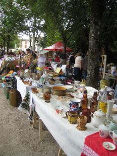 "A vide-grenier! ""empty the attic"". A favorite thing to do on a Sunday morning. Gascony, France"