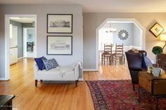 Stage your home yourself: This home is open, airy, and decluttered.