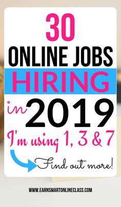 Looking for online jobs hiring now? Here is a list of 30 companies with work from home positions! You can work remotely from the comfort of your home. Looking for online jobs hiring now? Here is a list of 30 companies with work from home Work From Home Careers, Work From Home Companies, Legitimate Work From Home, Work From Home Opportunities, Work From Home Moms, Legit Work From Home, Online Jobs From Home, Earn Money From Home, Earn Money Online