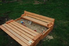 Ana White   Sand box with built-in seats - DIY Projects