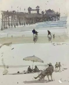 Joseph Zbukvic sketchbook, Oceanside, California