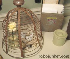 Metal cloche - I wonder if I could make some from chicken wire to keep the armadillos out of my strawberries when the weather gets dry?   DIY Craft Projects using Old Vintage Windows - Trash to Treasure - Architectural Salvage