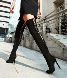 Black suede Cuissard Giuseppe Zanotti 'Alis' Boots