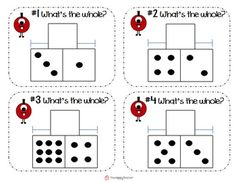 Part-Part-Whole Task Cards for math stations/centers. Helps students with basic addition and subtraction facts, counting on, fact families, subitizing, and speed/automaticity with math facts! Cute monster theme!