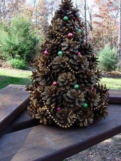Pine Cone Christmas Tree Decorations Video Tutorial