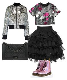 """""""13.02"""" by muguet07 on Polyvore featuring MSGM, FAUSTO PUGLISI, Chanel and Dr. Martens"""