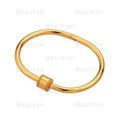 pulsera moda diseno nuevo simple en acero dorado inoxidable -SSBTG244263