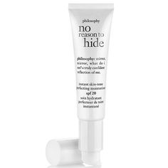 It's not just wrinkles; studies have shown that uneven skin tone and texture can make you appear older than you really are. This tinted moisturizer erases all that in one swipe (it comes in two shades), while pigment-fading ingredients, such as licorice and niacinamide, work behind the scenes to even things out over time, too./