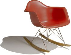 Charles & Ray Eames Eames® molded plastic armchair - rocker by Herman Miller