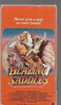 Blazing Saddles VHS,Cleavon Little, Gene Wilder: Mel Brooks